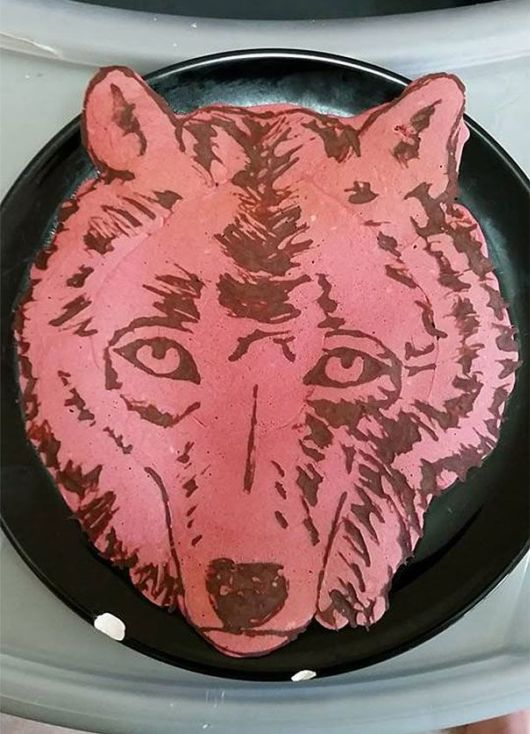 Dad Makes Colorful Artistic Pancakes For Kid