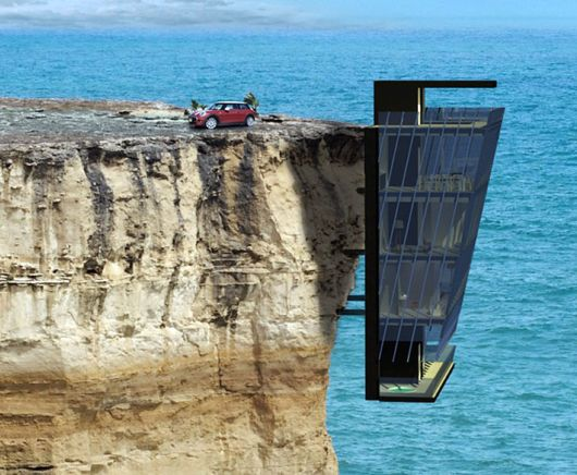 Extraordinary Vacation Home Clings To Cliff