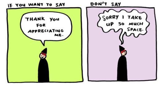 Saying Thank You Is More Appropriate Than Saying Sorry