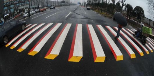 India To Use 3D Paintings As Speed Breakersr
