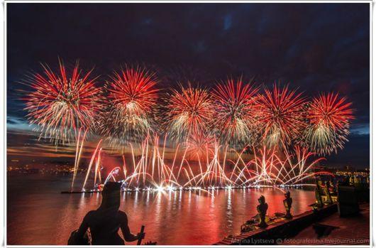 Beautiful Fireworks In Russia