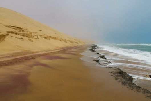 The Desert Meets The Ocean At Namib