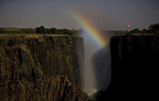 Moonbow Over The Victoria Falls