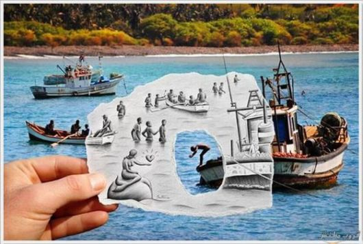 Mixing Pencil Drawing With Real Life