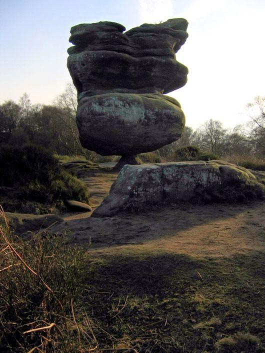 Perfectly Balanced Rock Of Brimham Moor, England