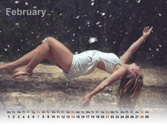 Cute Girls Wallpaper Calendar 2016