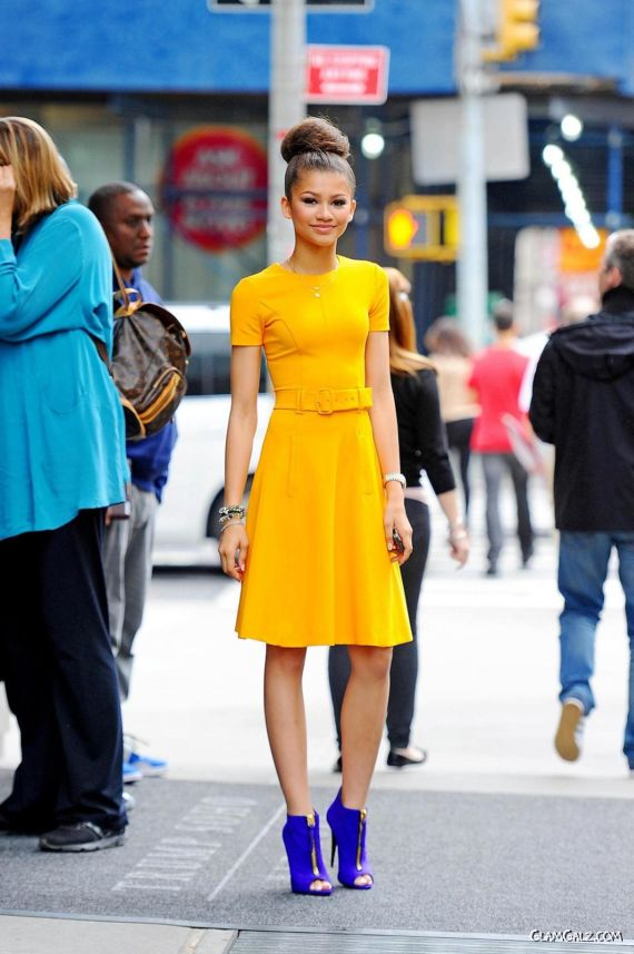 Zendaya Coleman Looks Awesome In Yellow
