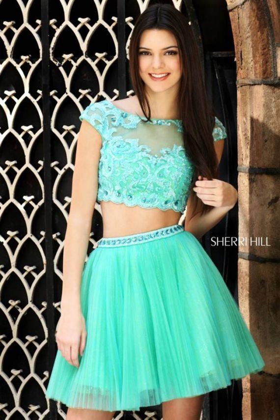 Cheerful Kendall Jenner For Sherri Hill Shoot