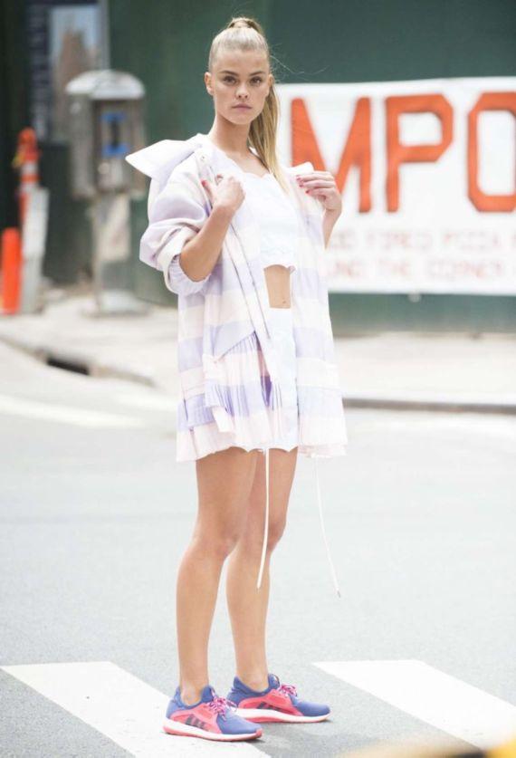 Nina Agdal On A Set Of Photoshoot In NY