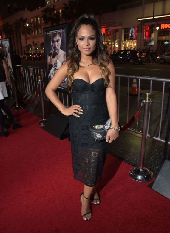 Christina Milian Attends Manny Premiere In Hollywood