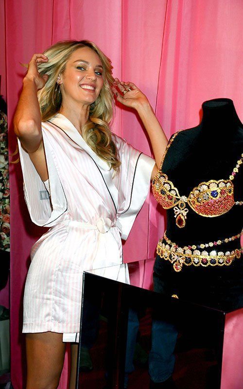 Candice Swanepoel At Victorias Secret Backstage