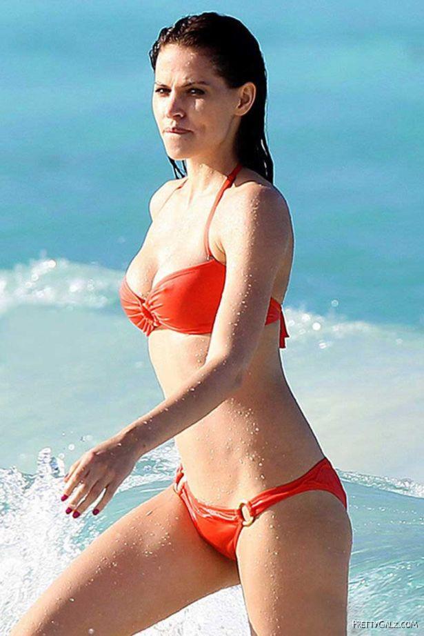 German Model Hana Nitsche At The Beach
