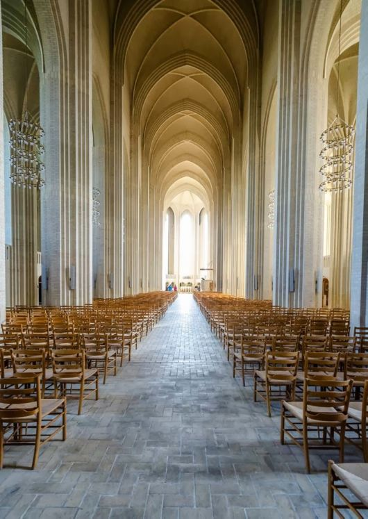 The Grundtvig's Church In Copenhagen, Denmark