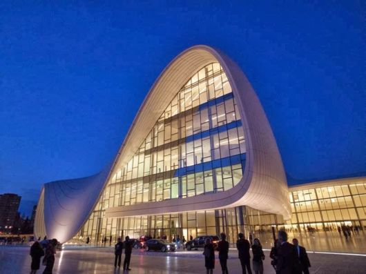 The Heydar Aliyev Center In Baku, Azerbaijan